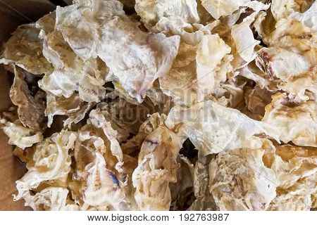 Dried Fish Maw Or Bladder, A Delicacy In Chinese Cuisine