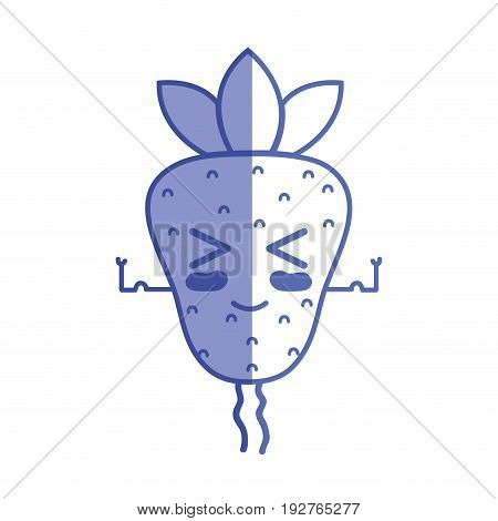 silhouette kawaii cute funny strawberry fruit vector illustration