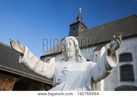 Monastery And Jesus Statue, Germany
