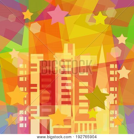 Holiday in the city abstract art background