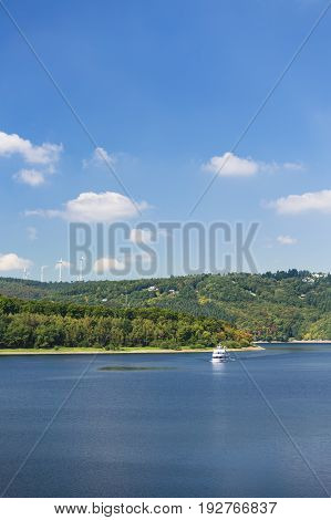 Tourist Ferry On Rursee, Germany