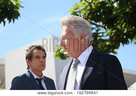 Dustin Hoffman, Ben Stiller attend the 'The Meyerowitz Stories' photocall during the 70th annual Cannes Film Festival at Palais des Festivals on May 21, 2017 in Cannes, France.