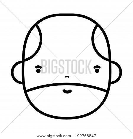 line nice businessman to kawaii avatar vector illustration