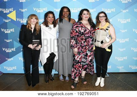 NEW YORK-MAY 21: (L-R)  Natasha Lyonne, Airea D. Matthews, Tayari Jones, Rachel McKibbens, Amber Tamblyn at 'Feminist as Fuck with Amber Tamblyn' during at Milk Studios on May 21, 2017 in New York.