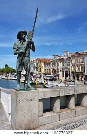 Street Scene In Aveiro, Portugal
