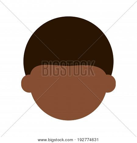 head of faceless dark skin  man icon image vector illustration design