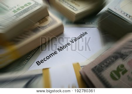 Become More Valuable Stock Photo High Quality