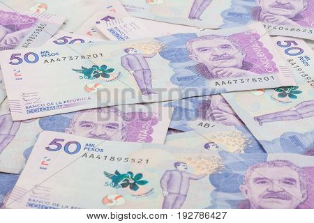 Fifty Thousand Colombian Pesos Bills Issued on 2016