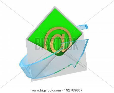 email concept . message . 3d rendered illustration
