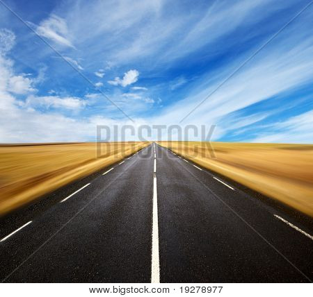 a long the road