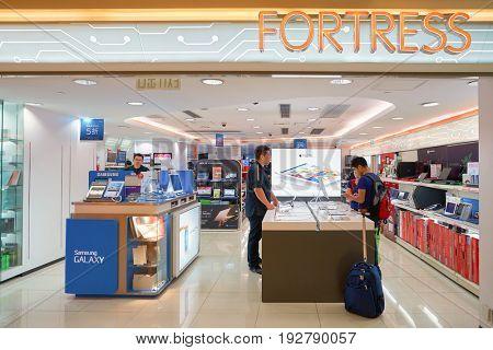 HONG KONG - CIRCA SEPTEMBER, 2016: an electronic store at a shopping center in Hong Kong.