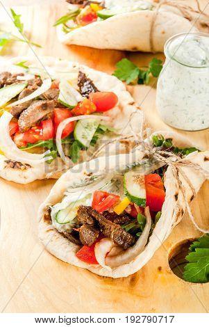 Greek Wrapped Sandwich Gyros