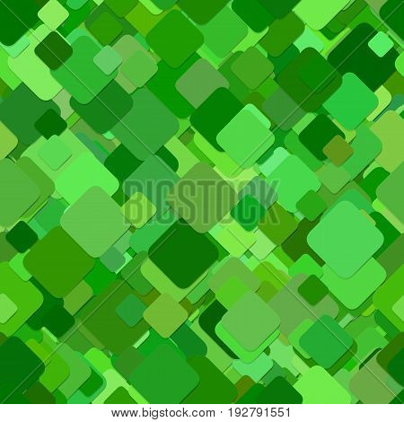 Green abstract business concept background - seamless pattern from angular rounded squares - vector graphic