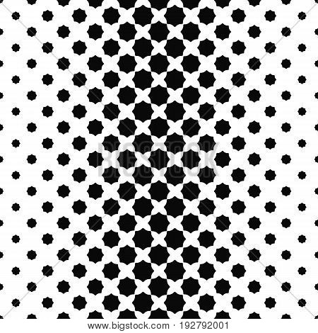 Abstract black and white curved octagon pattern background