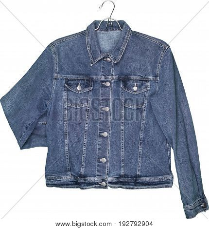 Jeans denim jacket hanger color white design