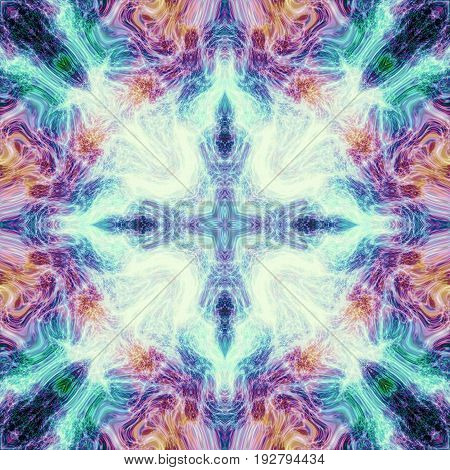 Bright mysterious abstract tile image ornate vivid image