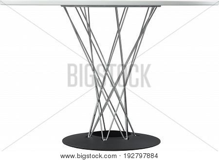 round white dinning table. Modern designer, table isolated on white background. Series of furniture