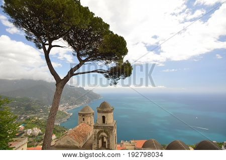 Ravelo Resort City At Amalfi Coast In Southern Italy