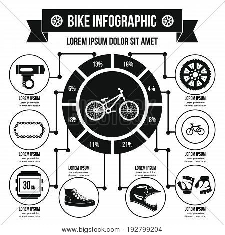 Bike infographic banner concept. Simple illustration of bikeinfographic vector poster concept for web