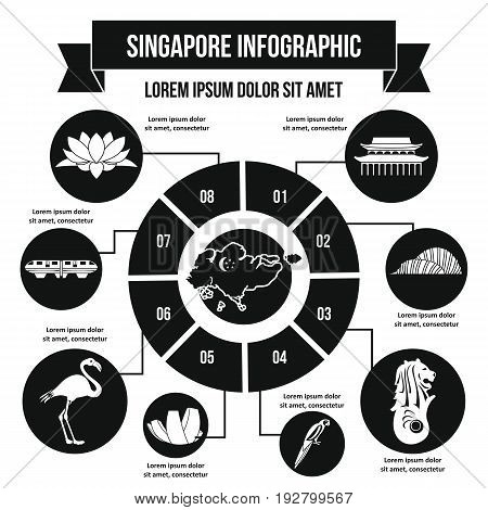 Singapore infographic banner concept. Simple illustration of Singapore infographic vector poster concept for web