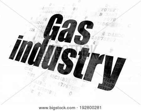 Industry concept: Pixelated black text Gas Industry on Digital background