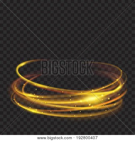 Golden Glowing Fire Rings With Glitters