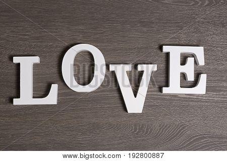 Love, Written In Letters, Top View