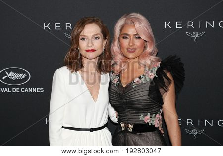 Isabelle Huppert,  Salma Hayek at the Women in Motion Awards Dinner  for at the 70th Festival de Cannes.May 21, 2017 Cannes, France