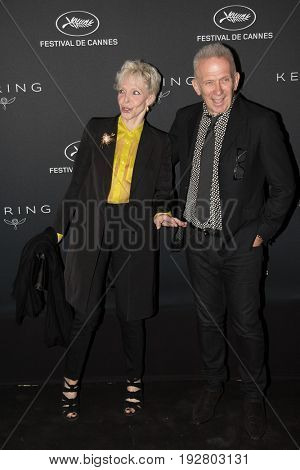 Tonie Marshall, Jean-Paul Gaultier at the Women in Motion Awards Dinner  for at the 70th Festival de Cannes.May 21, 2017 Cannes, France