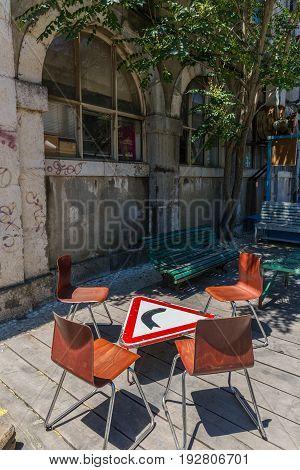 Lisbon, Portugal - May 20, 2917: Very Popular Art Centrum Lx Factory In Lisbon