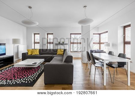 Dining And Living Room Combined