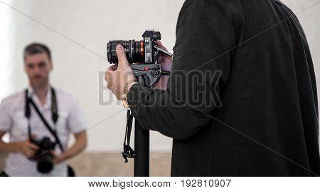 Man Shoots At The Camera