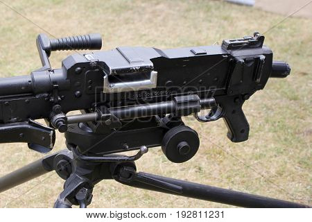 Close Up Of An L7A2 Gpmg