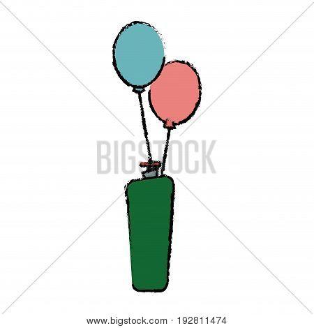 helium filled balloons carnival decoration vector illustration