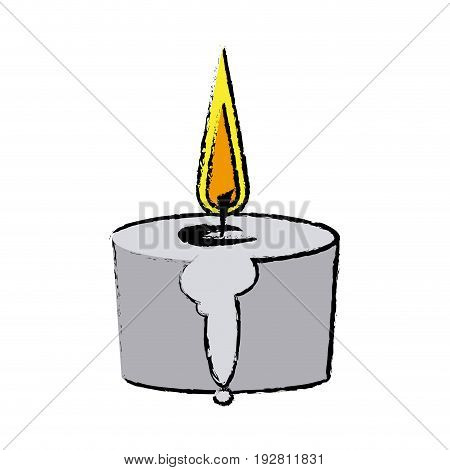 candle spa aromatherapy light treatment vector illustration