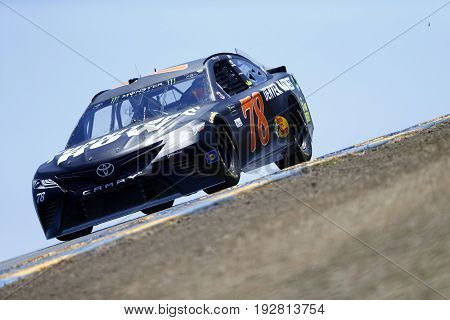 June 23, 2017 - Sonoma, CA, USA: Martin Truex Jr. (78) takes to the track to practice for the Toyota/Save Mart 350 at Sonoma Raceway in Sonoma, CA.