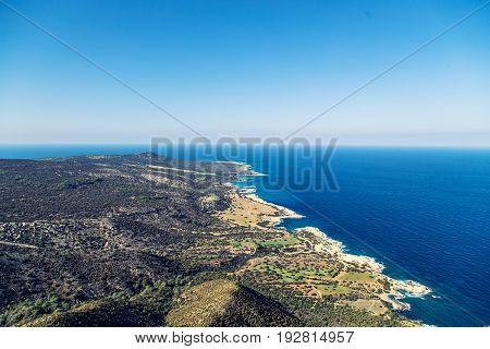 Cyprus Akamas Peninsula National Park mountain's top.
