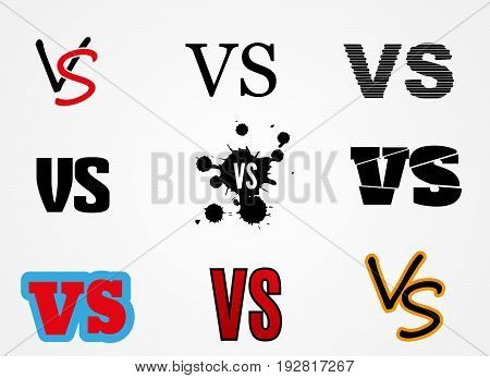 Versus Logo. VS Vector Letters Illustration. Competition Icon. Fight Symbol