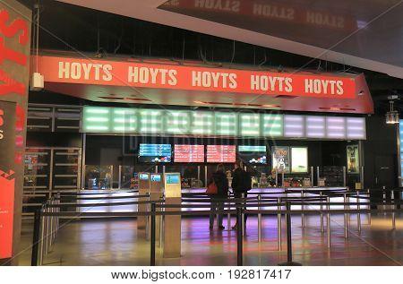 MELBOURNE AUSTRALIA - JUNE 14, 2017: Unidentified people visit Hoyts cinema. Hoyts is the second largest cinema group in Australia.