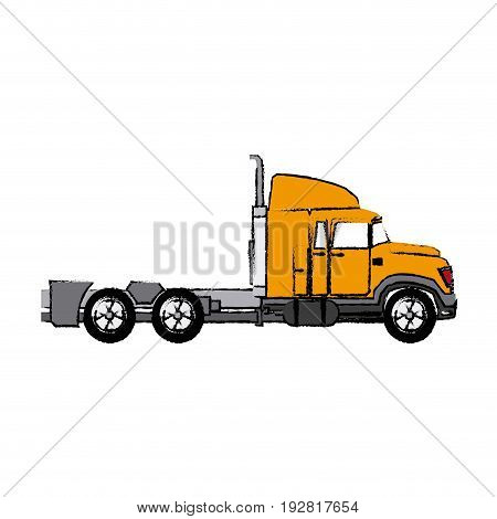 truck cabin trailer transport business vector illustration