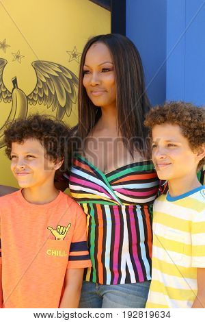 LOS ANGELES - JUN 24:  Garcelle Beauvais, sons at the