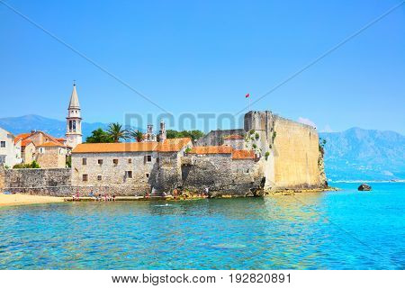 City walls of Old town of Budva, Montenegro