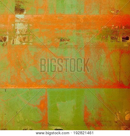 Abstract grunge textured background. With different color patterns: yellow (beige); brown; green; red (orange)