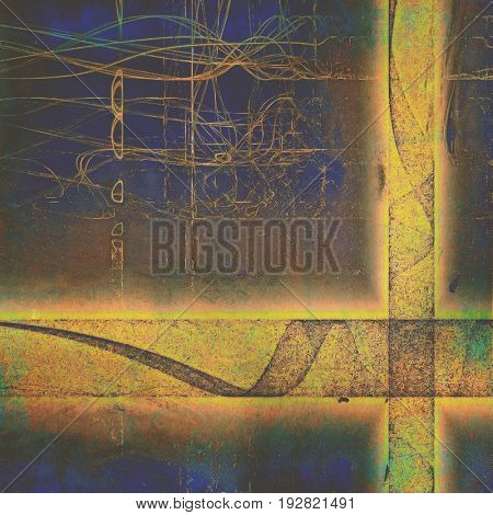 Grunge background for a creative vintage style poster. With different color patterns: yellow (beige); brown; gray; green; blue; pink