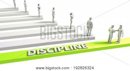 Discipline Mindset for a Successful Business Concept 3D Illustration Render
