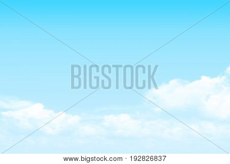 vector clear blue sky cumulus cloud background