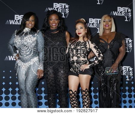 LOS ANGELES - JUN 25:  Tamika Scott, Kandi Burruss, Tameka Cottle, LaTocha Scott, Xscape at the 2017 BET Awards - Press Room at the Microsoft Theater on June 25, 2017 in Los Angeles, CA