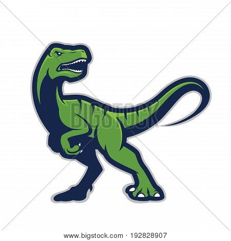 Clipart picture of a raptor cartoon mascot logo character