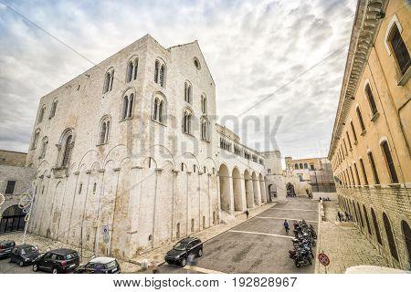 Basilica San Nicola In Old Town Of Bari, Italy
