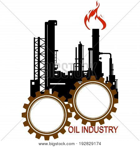 Circuit the oil refinery. The illustration on a white background.